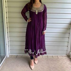 Purple Indian/Pakistani Anarkali Dress